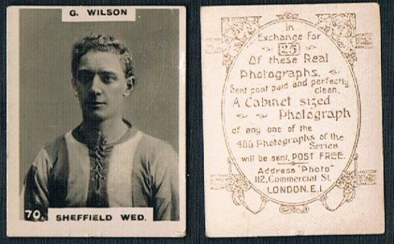 1919 pinnace brown oval back Sheffield Wednesday Wilson 70